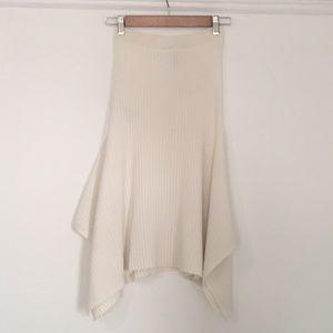 BCBGMaxAzria Asymmetrical White Teigan Skirt